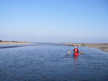 歴舟川河口付近