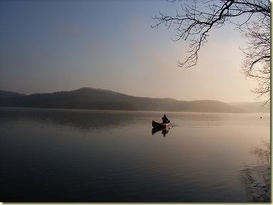 塘路湖にて